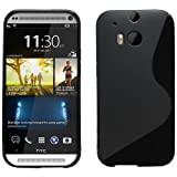 Sleek Gadgets® - S Line Gel Case Cover for HTC One 2 M8 (2014) (Black)