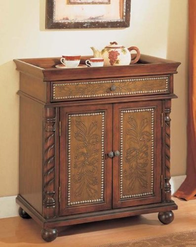 Cheap Console Table Bombe Chest Brown Finish (VF_AM9164)