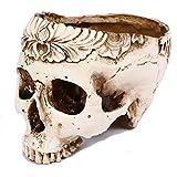 頭蓋骨スカルドクロ植木鉢フラワーポット小物入れインテリアハロウィンゴシックパンク