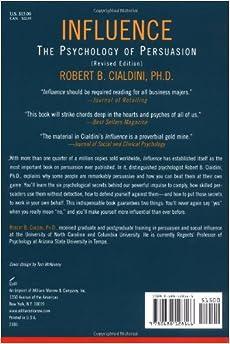 The art of persuasion book robert cialdini