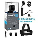 GoPro HERO5 Session Action Camera Bundle with Bonus Head Strap and QuickClip, Floating Hand Grip, 16GB MicroSD Card