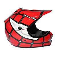 TCMT Dot Youth & Kids Motocross Offroad Street Helmet Red Spider Net Motocross Off-Road Helmet MX Goggles+Gloves L from TCMT