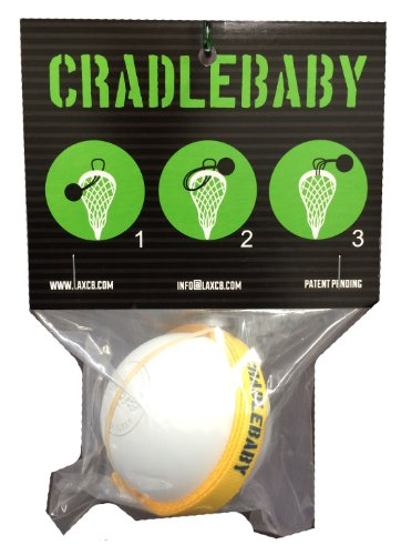CradleBaby Rubber Lacrosse Ball for Training Indoor, Outdoor, Shooting, Catching (Yellow/Navy Blue)