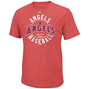 MLB Majestic Los Angeles Angels of Anaheim The Big Time Fashion Tri-Blend T-Shirt -... by Majestic