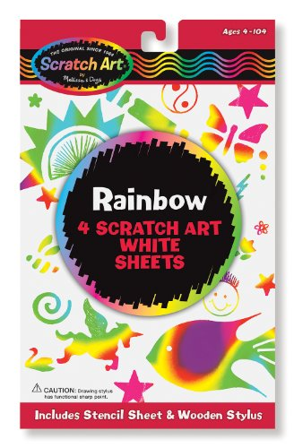 Melissa & Doug Scratch Art Magic Rainbow White