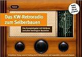 Blechdose Keksdose und Deko Box Retro Cookie Radio in Rot 25,5x18,5x9,9 cm