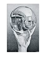 Artopweb Panel Decorativo Escher Hand With Globe
