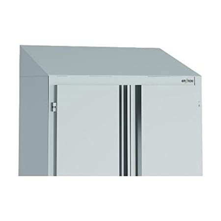 Option toit incliné pour armoires inox, L1400 x P600 mm -ERATOS
