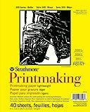 "Strathmore Printmaking Paper Pad 8""X11""-40 Sheets"