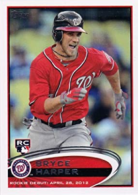 Bryce Harper 2012 Topps Traded Update Baseball Series Mint Rookie Card #US183 Picturing This Washington Nationals Star in His Red Jersey and Shipped in a Protective Screwdown Holder