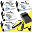 Four Halcyon 1500 mAH Lithium Ion Replacement Battery and Charger Kit for Nikon Coolpix S6300 Digital Camera and Nikon EN-EL12