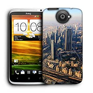 Snoogg City From Top Printed Protective Phone Back Case Cover For HTC One X