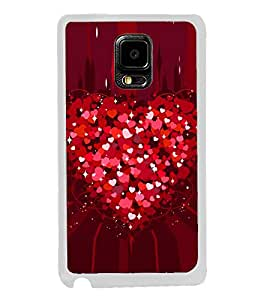 Heart of Red Hearts 2D Hard Polycarbonate Designer Back Case Cover for Samsung Galaxy Note Edge :: Samsung Galaxy Note Edge N915FY N915A N915T N915K/N915L/N915S N915G N915D