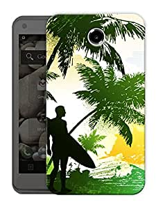 """Beach And Trees Printed Designer Mobile Back Cover For """"Lenovo S880"""" By Humor Gang (3D, Matte Finish, Premium Quality, Protective Snap On Slim Hard Phone Case, Multi Color)"""