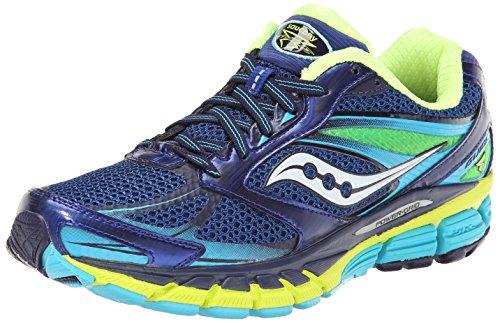 Saucony Women's Guide 8 Running Shoe,Blue/Navy/Yellow,8.5 M US