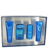 Perry Ellis Aqua 4 Piece Gift Set for Men 3.4 oz. EDT Spray, 3 oz. Soothing After Shave Gel, 3 oz. Shower Gel, 2.75 oz. - Deodorant Stick