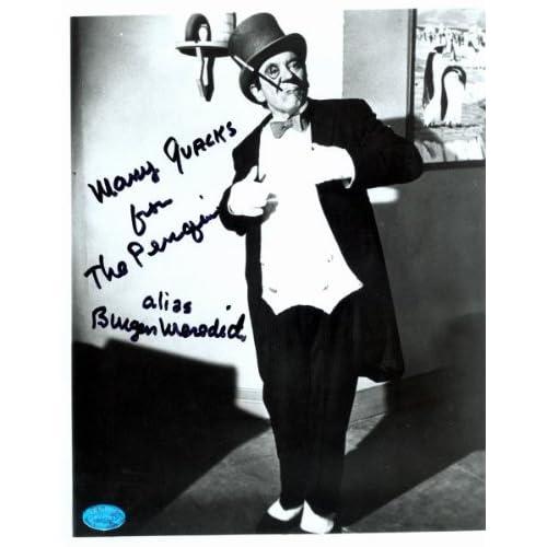 Burgess Meredith autographed 8x10 photo (Batman The
