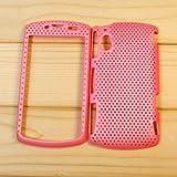 【全10色】Sony Ericsson Xperia Play R800i メッシュケース ハードケース シェルケース  ピンク Plastic Case for Xperia Play R800i (1500-3)