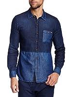 ZZ_RNT23 Camisa Vaquera (Azul Marino)