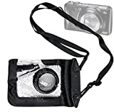 DURAGADGET Compact Camera Case in Black for Fujifilm FinePix F300EXR, F500EXR, F550EXR, F600EXR, F660EXR & F80EXR - Premium Quality, Water-Resistant Pouch with Zoom Lens Compartment, Cross-Body Strap & Air-Locked Seals