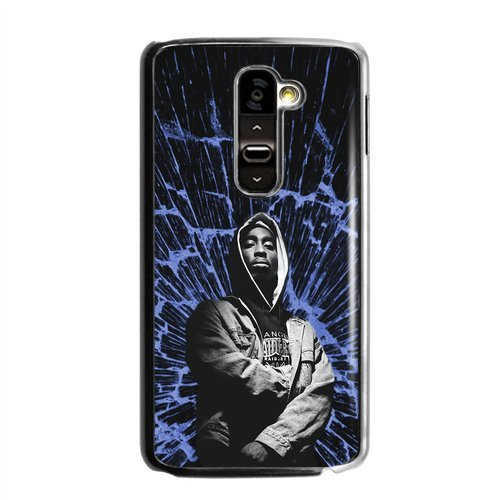 2Pac Greatest Hip Hop Rapper And Actor Cool Blue Ray Personalized Durable Plastic Case For Lg G2 (Fit For At&T)