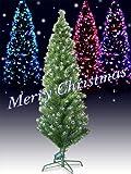 Xmas LEDファイバークリスマスツリー 高さ180cm グリーン