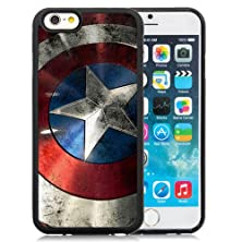 buy Iphone 6(6S) Case,Brand New Captain America Shield Black Case Cover