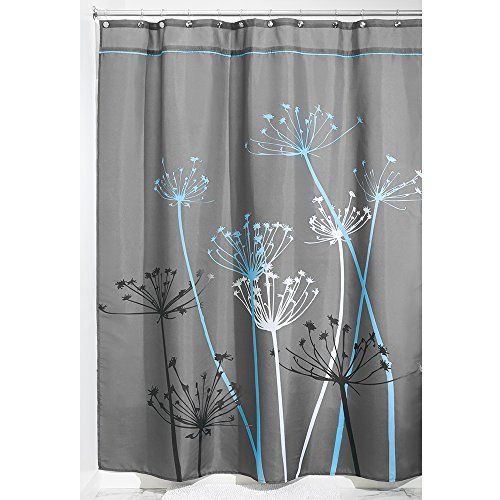 interdesign thistle fabric shower curtain long 72 x 84