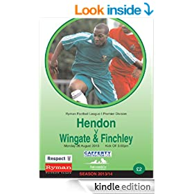 Hendon FC v Wingate and Finchley FC 2013 - 2014 Football eProgramme (Hendon FC eProgrammes 2013/14)