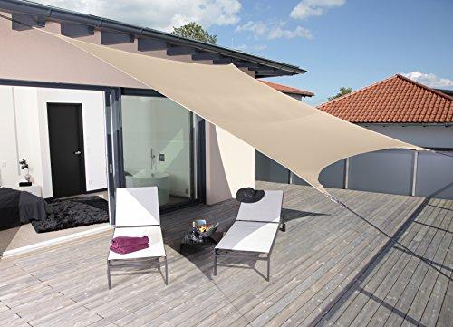 Windhager 10889 SunSail Riviera, carré, 3,6 m, kaki