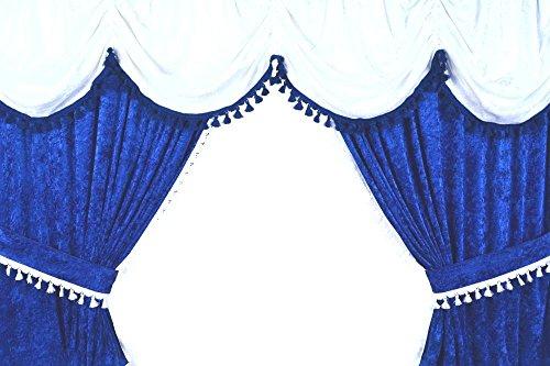LKW-Gardinenset - Blau/Weiß - 11-teilig (14=MAN TGS)