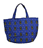 #6: Ideal® Helen Shirley Katha Print Blue and Yellow Canvas Bag