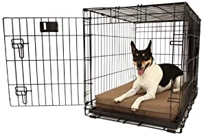 """Orthopedic 4"""" Dog Crate Pad - Waterproof & Tear Resistant - For Crates 30 x 21"""