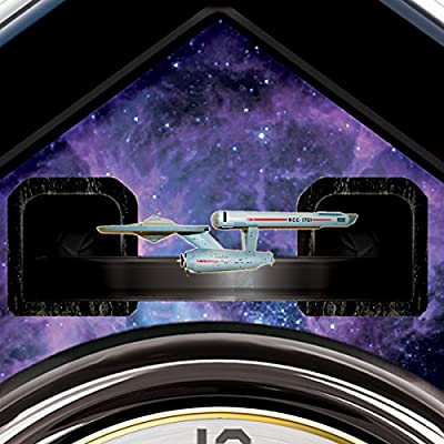 STAR TREK Cuckoo Clock With Sound, Motion And Original Series Crew by The Bradford Exchange