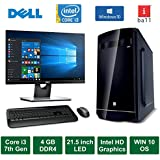 "Desktop PC - Intel Core I3 7th Generation 3.90GHz Processor / 21.5"" Monitor / 4GB DDR4 Ram / 500GB HDD / Windows 10 Pro / ASUS Motherboard / DVD / WiFi"