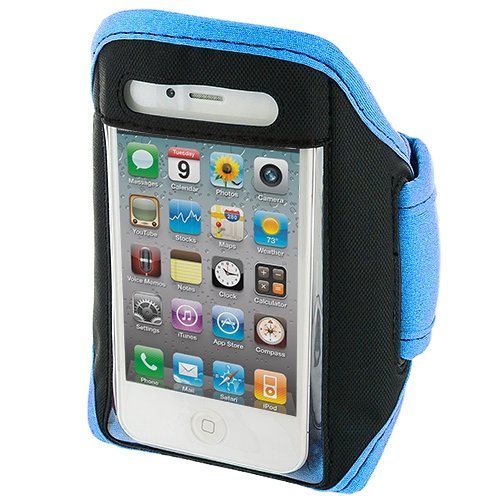 Cell Accessories For Less (Tm) Baby Blue Running Sports Gym Armband For Apple Iphone 4 / 4S - By Thetargetbuys front-928239