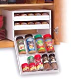 Spice Stack Super Spicestack 27 Bottle Spice Rack White - Spice Stack 27100