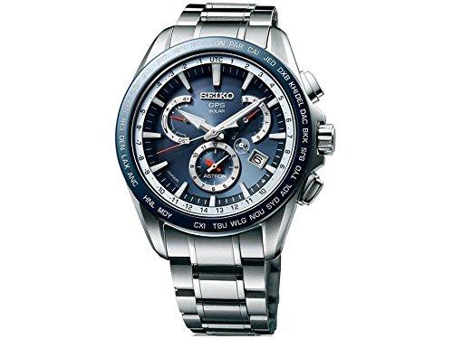 Seiko Mens ASTRON GPS Titanium Solar Dual Time Watch, SSE053