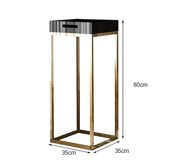 Basamento semplice in fiore in acciaio inox titanio - Stand fiore in multistrato interno - Stand fiore in sala soggiorno - Stand fiore interno - Stand fiore ufficio / 35 * 35 * 80cm ( Color : Nero , Dimensione : 35*35*80cm )