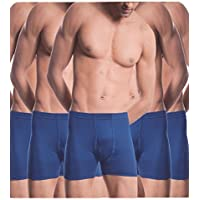 Alfa Stylo Men's 100% combed Cotton Long Trunk/Drawer H-Back IE [90cm] - Pack of 5 (Assorted Color)