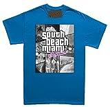 Renowned - Camiseta - Cuello redondo - manga 3/4 - Niños-Niñas azul small
