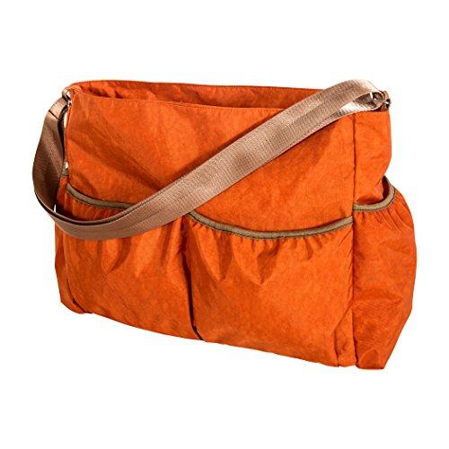 Trend Lab Orange Crinkle Tote Diaper Bag, Orange