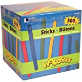 Loew Cornell 1021232 Woodsies Assorted Color Craft Sticks