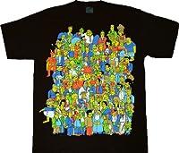 The Simpsons Glow in the Dark Homer Crowd Black T-Shirt Tee