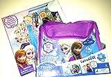Disney Frozen - Carry & Go 3 Puzzle Pack and Sparkling Paper Dolls Bundle