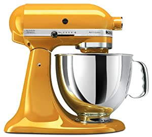 KitchenAid KSM150PSYP Artisan Series 5-Quart Stand Mixer, Yellow Pepper