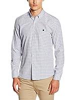 POLO CLUB Camisa Hombre Gentle Trend Sport (Azul / Ocre)