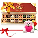 Someone Special Chocolates Gift Box With Teddy And Rose - Chocholik Belgium Chocolates