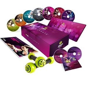 Zumba Fitness Exhilarate 7-DVD Anglais / Français + 2 CD Best of Exhilarate - Séances d'entraînement de remise en forme