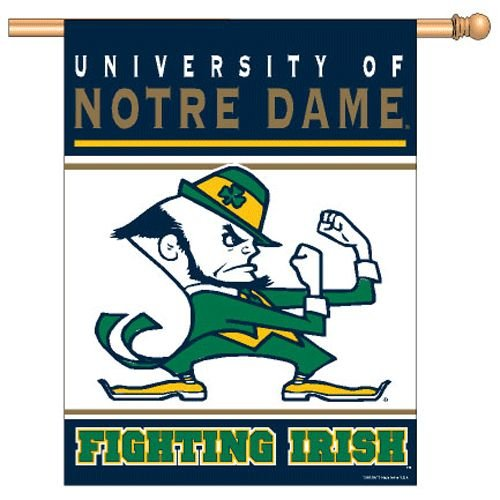 "NCAA Notre Dame Fighting Irish Banner, 27""x37"", Team Color"